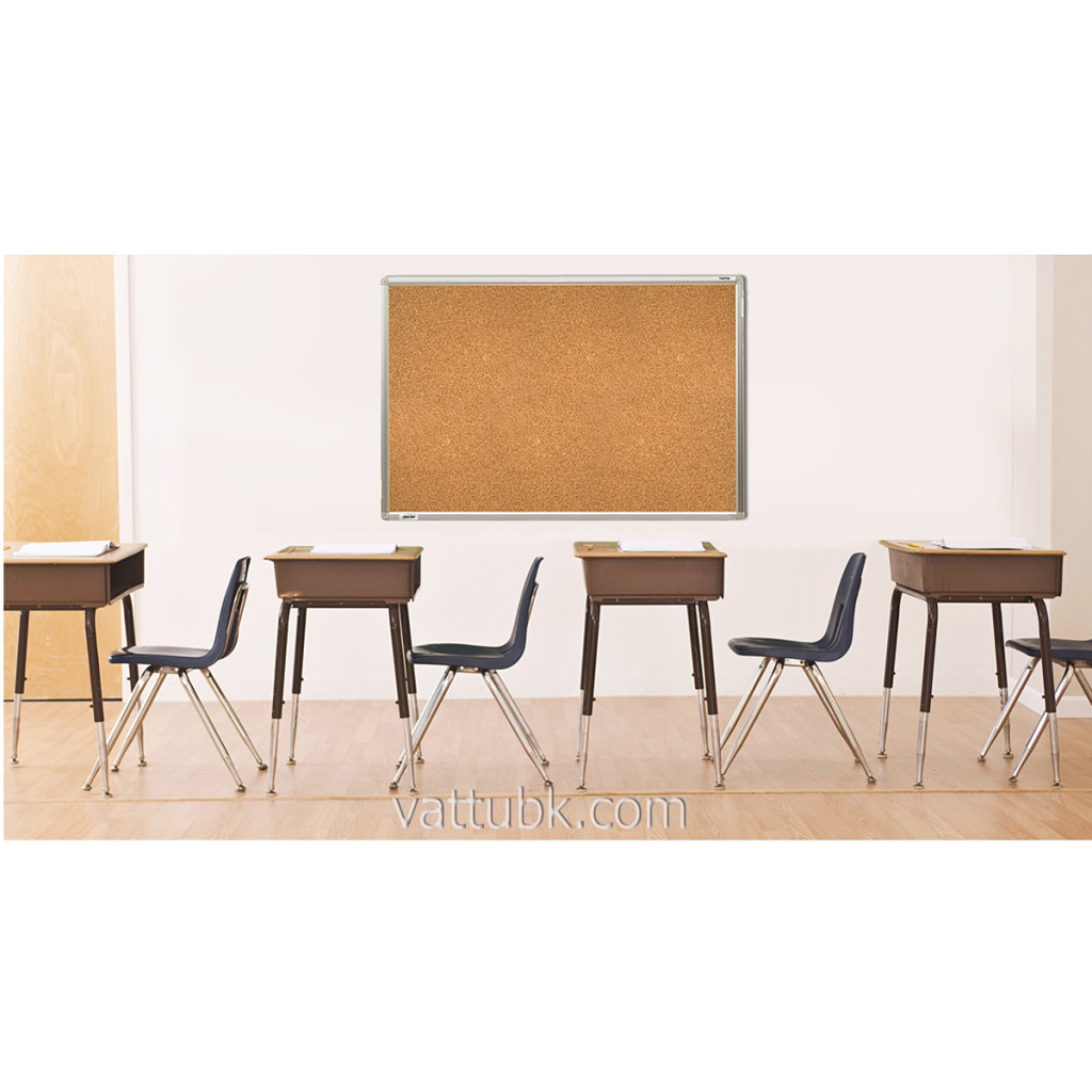 desks in row in classroom